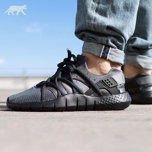 Nike Huarache NM Dark Gray/Anthracite: Nike has just unveiled an all-white  version of the Huarache NM, and to complement it comes an