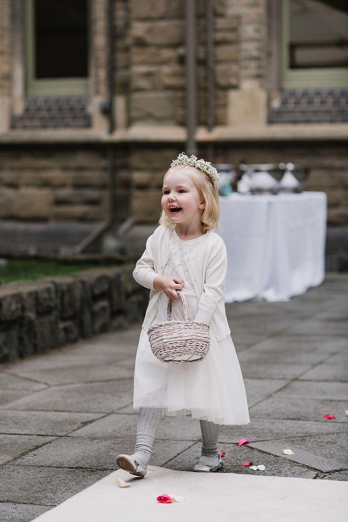 Adorable Flower Girl with a Floral Crown  https://heyweddinglady.com/modern-botanical-garden-wedding-day-melbourne/    #wedding #weddings #weddingideas #realweddings #weddingday #realbrides #flowergirl