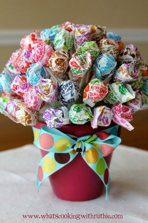 Dum-Dums Topiary... office gift or center piece