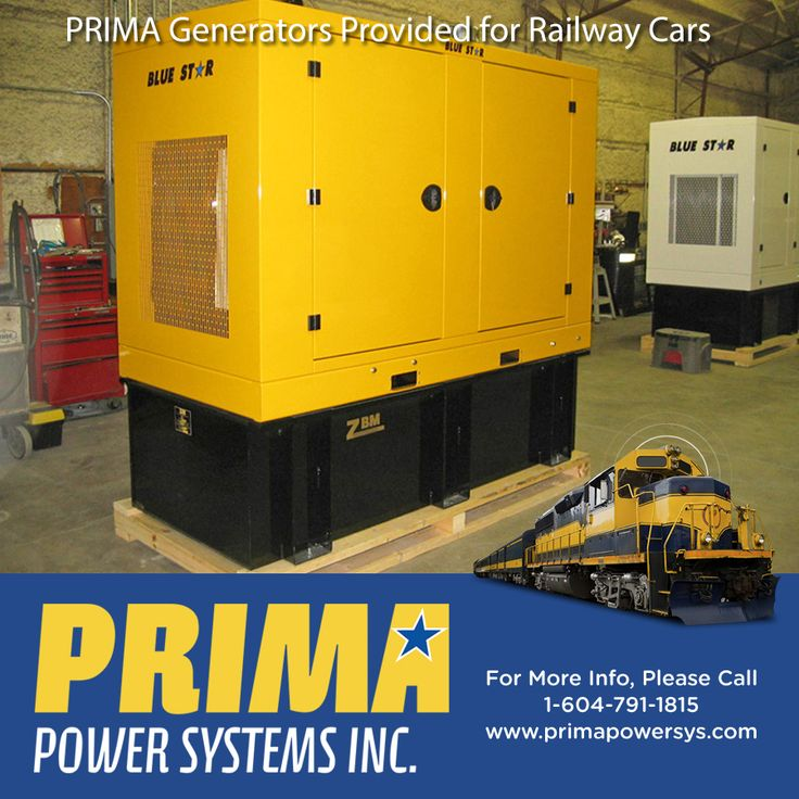 Here's a picture of a Generator PRIMA supplied for Railway Cars - PRIMA provides #Generators for #RVs, #Industrial, #Agricultural #Commercial and #Residential applications throughout #CANADA!