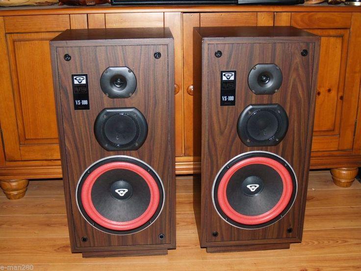 Cerwin Vega Vs 100 3 Way Floor Standing Speakers W 10