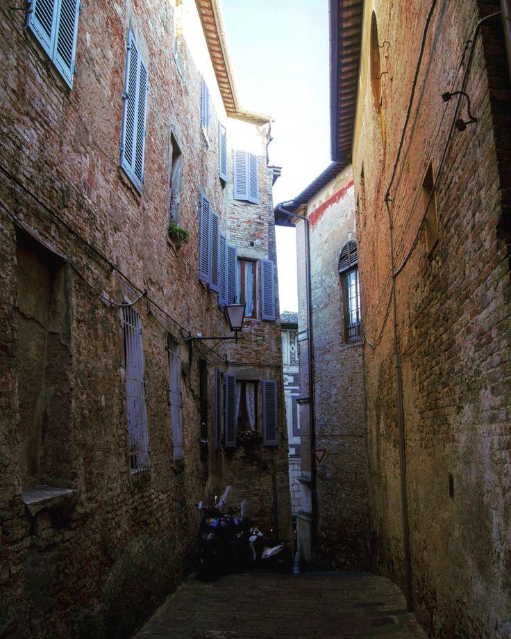 Streets of Siena. Toscana, Italia.