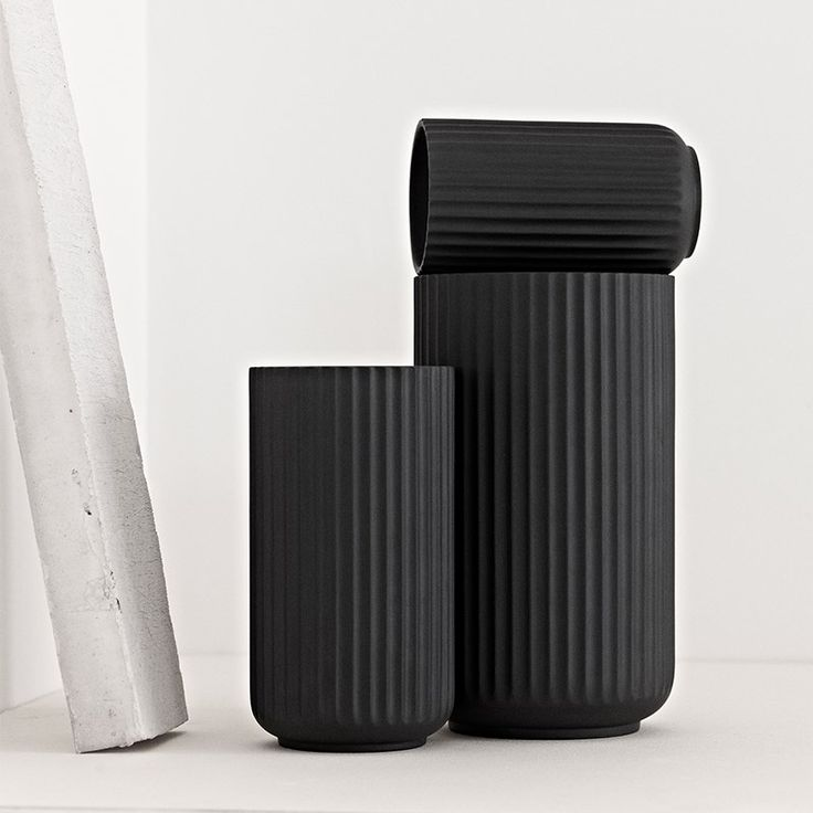 Lyngby porcelæn - tactile, sensual and organic in black #black #design #interiors