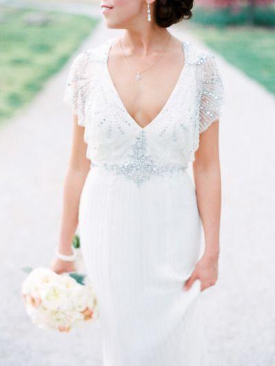 Glam wedding dress: http://www.stylemepretty.com/2014/08/20/classic-spring-st-louis-wedding/   Photography: Clary Pfeiffer - http://www.claryphoto.com/