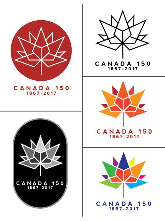 canada 150th logo winnter variations