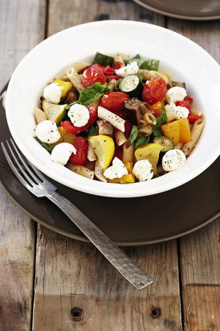 Geroosterde groente met pasta | SARIE | Roasted vegetables with pasta