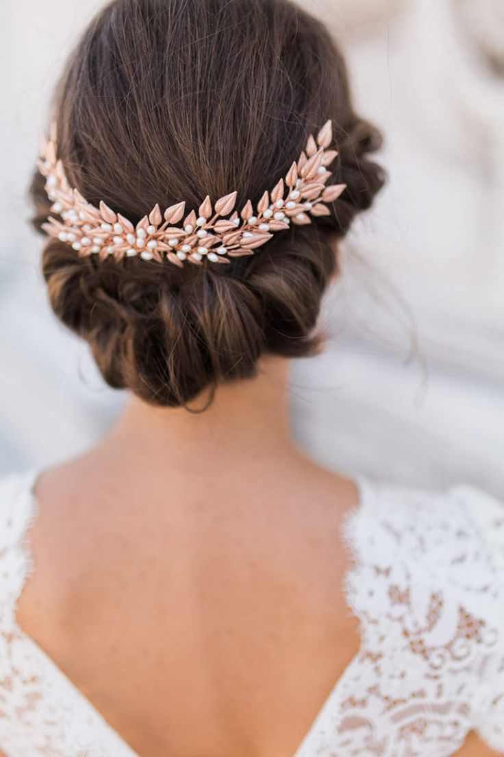 rose gold wedding tiara hair accessories | hair for wedding