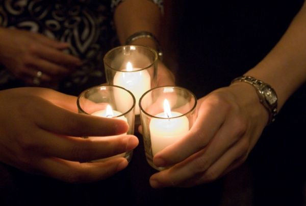 The Candlelit Vigil - the closing event for a time of reflection  Manchester Pride 2015