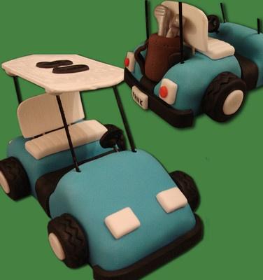 "Handmade Personalised Edible ""Golf Cart"" Cake Topper | eBay"