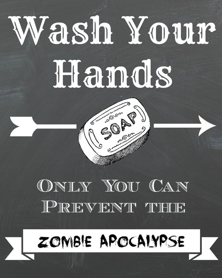 Dorothy Sue and Millie B's too: FREE Zombie Apocolypse CHALKBOARD PRINTABLE Wall Art