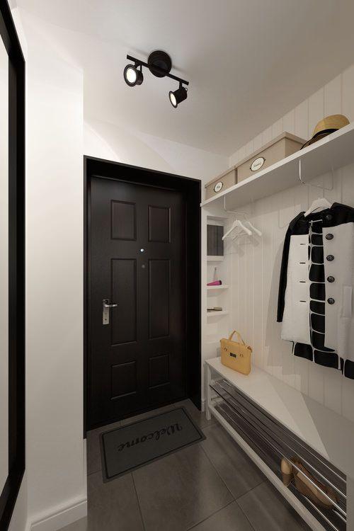 прихожая в дизайне квартиры-студии 33 кв. м.