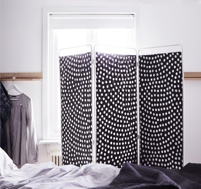 JORDET scheidingswand | #IKEA #slaapkamer #kamerscherm #zwartwit #roomdivider