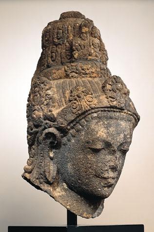 Head of Bodhisattva Avalokiteshvara, Java Indonesia, 9th C. the Buddhist…