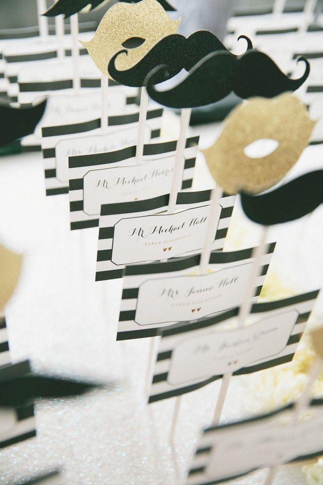 Modern Black and Gold Los Angeles Wedding - MODwedding