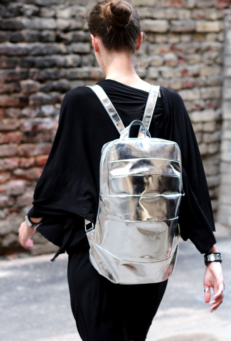 Concept Leather Cosmic Silver Backpack