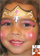 DIY Princess Crown Face paint