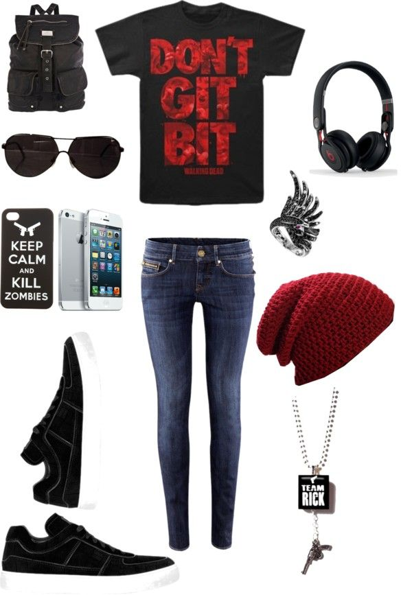 """The Walking Dead #3"" by sarahmoody ❤ liked on Polyvore"