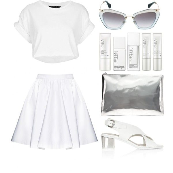 """Look 8 - Silvering"" by splashthestyle on Polyvore polyvore, fashion set, fashion, ootd, collage, minimal, outfit"