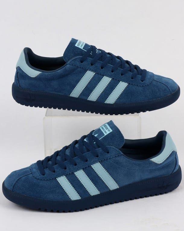 Adidas Bermuda Trainers Vintage Navy/Sky Blue | Adidas, Adidas ...