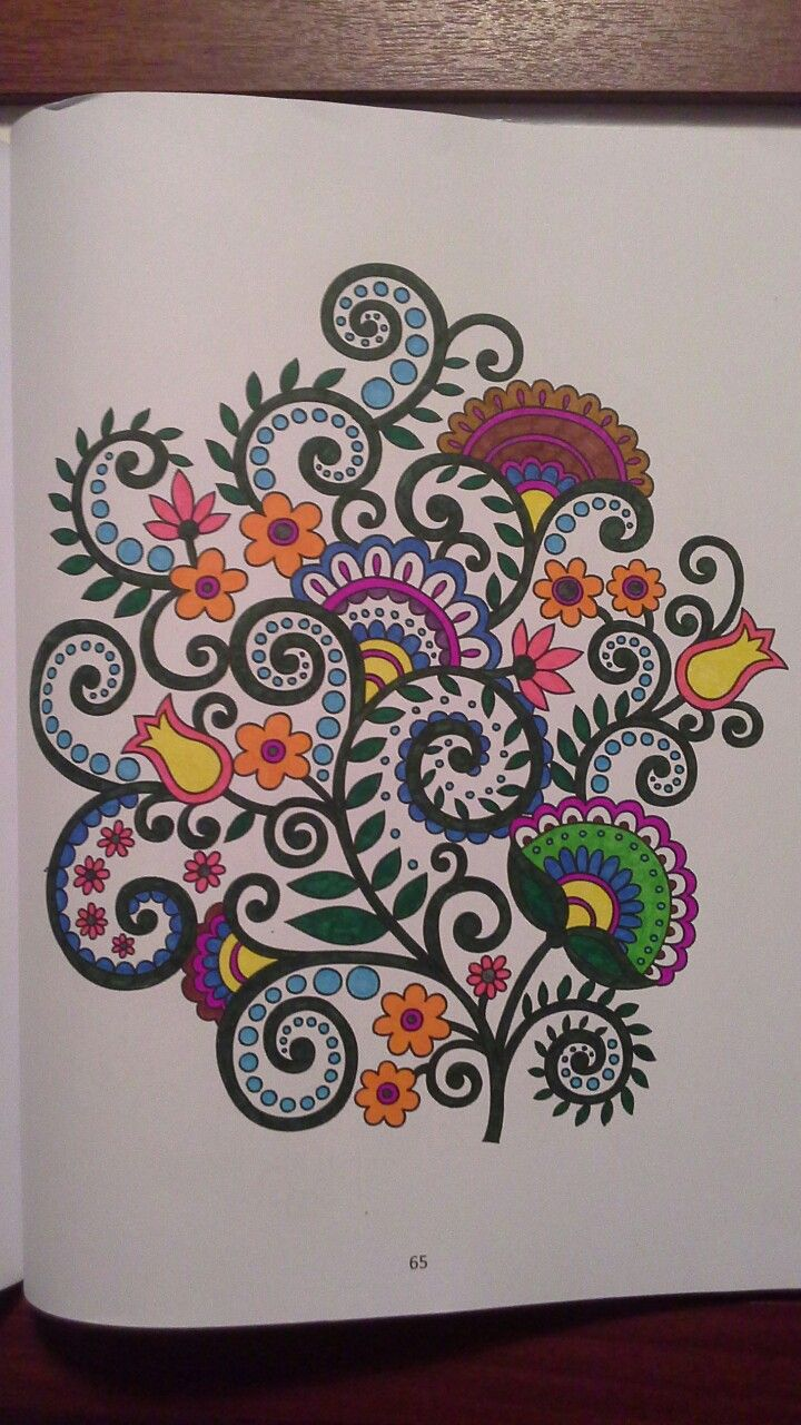 From flower patterns, hobby habitat colouring book.