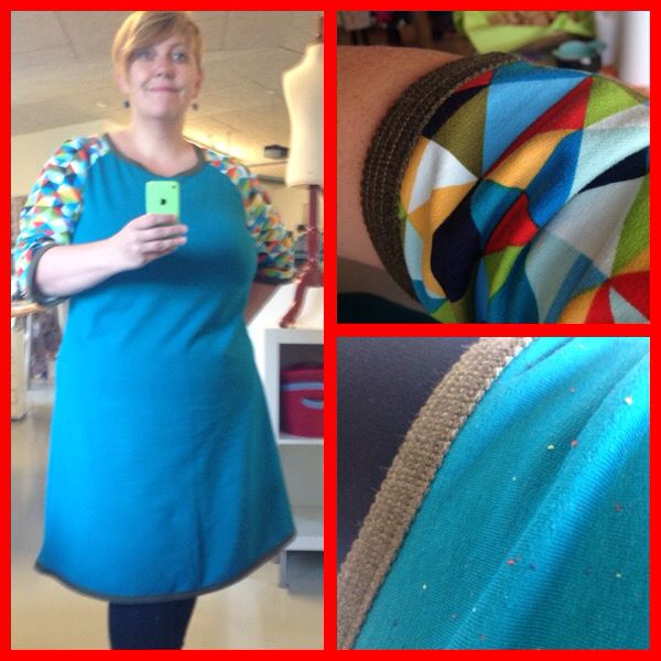 Lækker kjole i isoli, jerseykjole, lækkert stof, sy selv, sewing, mønster onion 2036