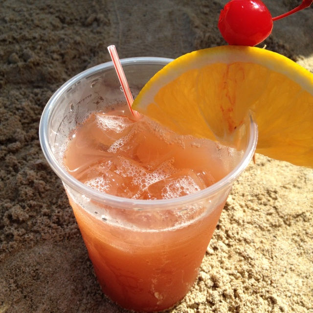 Rum punch at Tryall Club, Jamaica.