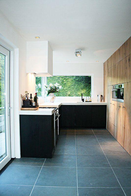 Eikenhouten keuken op maat gemaakt bij Sijmen Interieur.