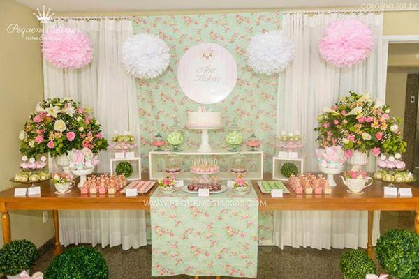 CHA DE BEBE URSA PROVENCAL, CHA de bebe menina , mesa doces ha de bebe , cha de bebe ursinhas , cha de bebe pequenos luxos, mesa decorada ch...