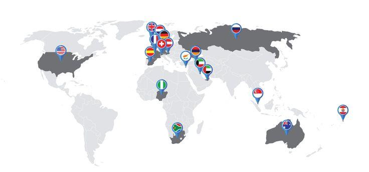 Costumer map designed for a website b2b marketplace
