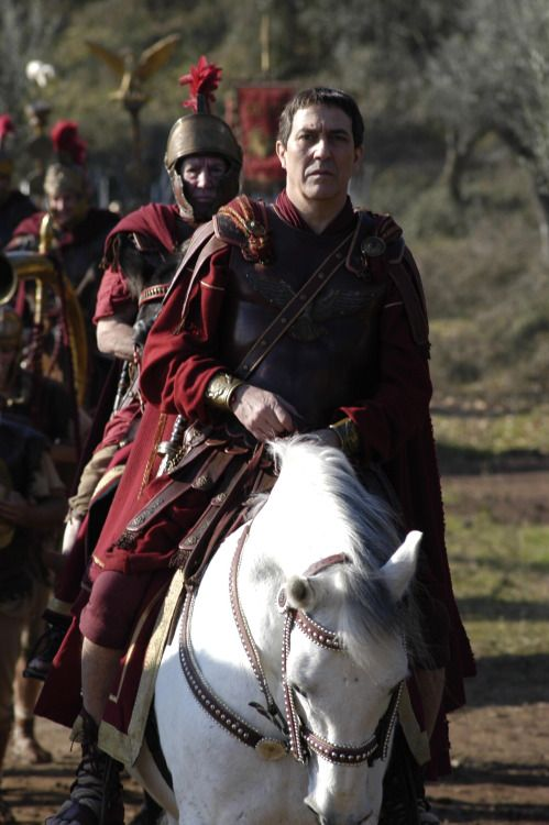 Gaius Julius Caesar in the HBO/BBC2 original television series Rome, played by Ciarán Hinds.