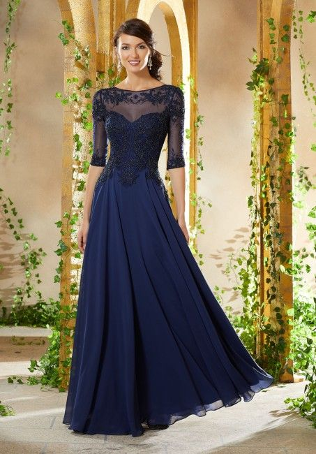ed472d9f243 Mori Lee 71908 Beaded Embroidered Bodice Mother of the Bride Gown in ...
