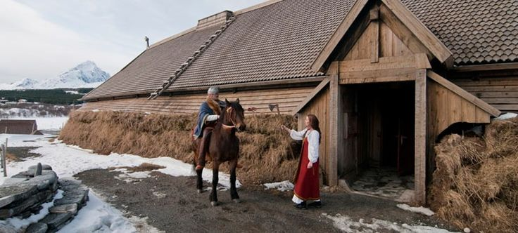 One of the largest Viking longhouses in the world has been reconstructed in the Lofoten Islands in Northern Norway - Photo: CH - Visitnorway...