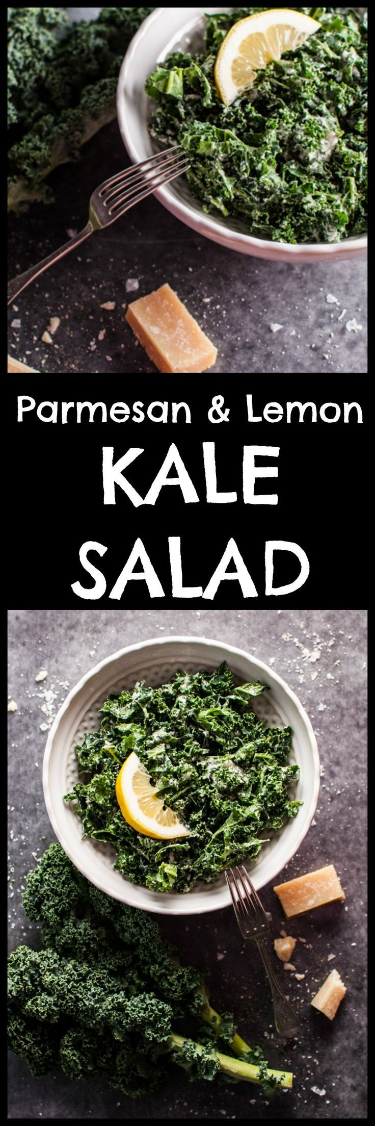 Kale salad with parmesan, lemon, and black truffle oil – you can easily add a gourmet twist to this superfood!