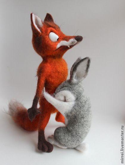 Fair Masters - handmade fox and hare.