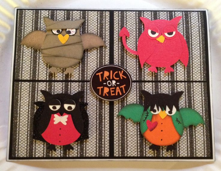 Stampin Up Owl punch Crafty Chicks Blog Halloween card