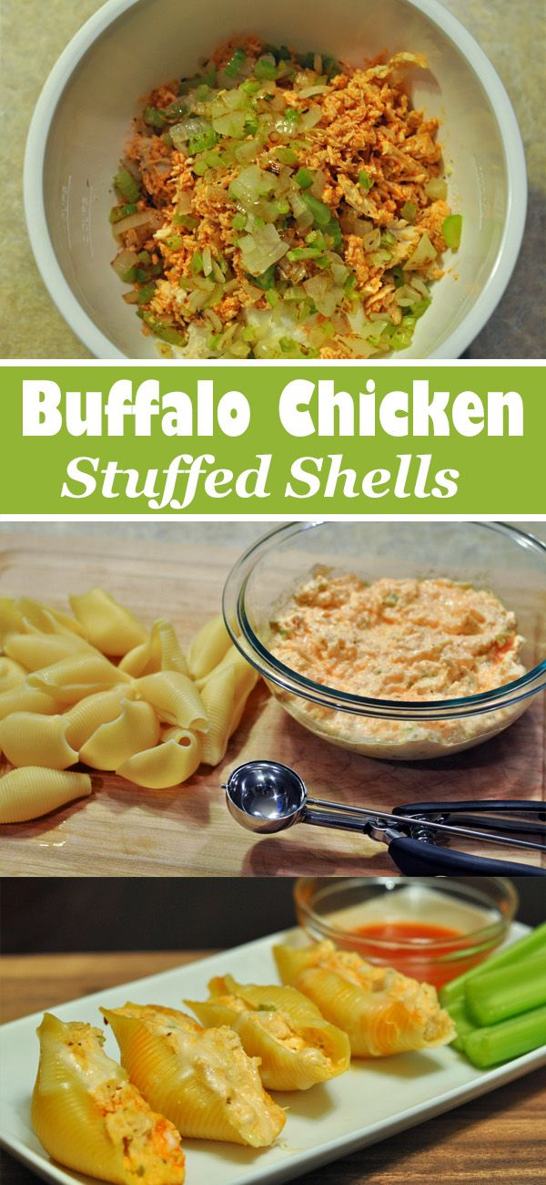 Are you a fan of buffalo chicken and pasta? Then you'll love these Buffalo Chicken Stuffed Shells.