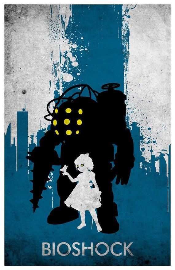 Bioshock Minimalist Poster by MINIMALISTPRINTS on Etsy