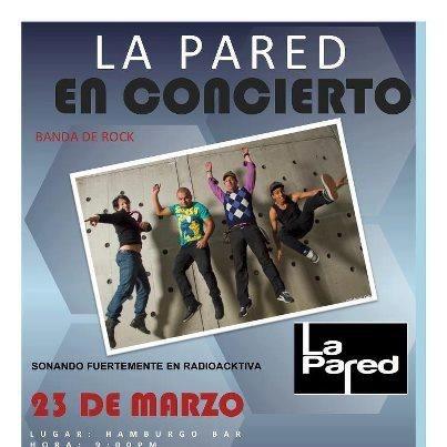 Disfruta los mejores covers del Rock en Español con LaPared en Hamburgo esta noche! http://www.mirolo.net/Medellin/Hamburgo.aspx  No dejen de #mirolear en vivo y en tiempo real lo mejor de la ciudad!