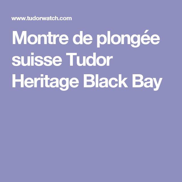 Montre de plongée suisse Tudor Heritage Black Bay