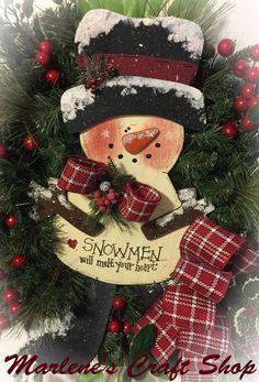 Snowman Wreath,Snowman Decoration,Snowman Door Hanger,Rustic Snowman  Decoration,Snowman Winter Wreath,Outdoor Snowman Wreath,Snowman Wreath