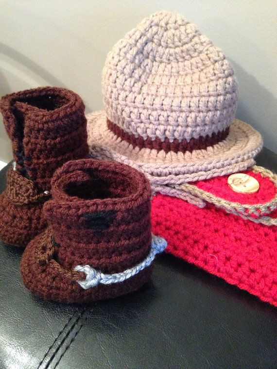 RCMP inspired set WITH boots newborn by SewCrochetLove on Etsy, $45.00