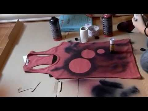 Designing my own t-shirt 2: Design with liquid bleach! - YouTube