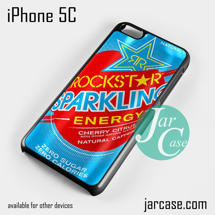 rockstar energy drink blue sparkling Phone case for iPhone 5C and other iPhone devices
