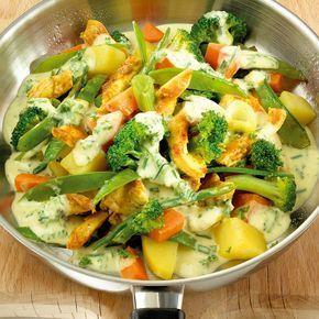 Geflügelpfanne mit Gemüse Rezepte   Weight Watchers