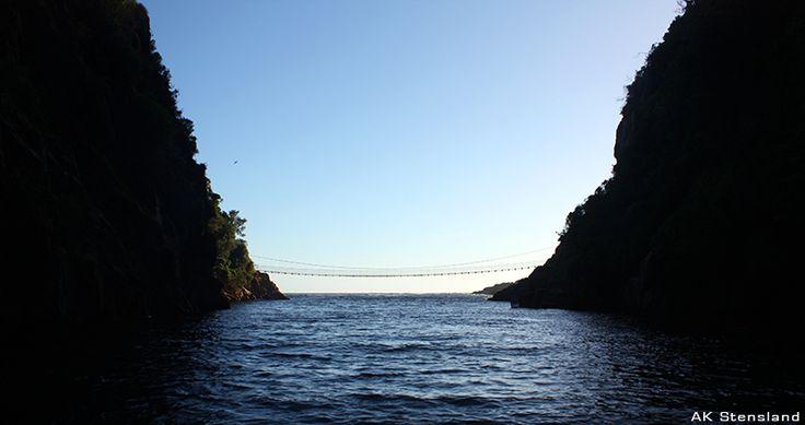 Foto: AK Stensland, Storms river suspension bridge i Tsitsikamma nationalpark, Sør-Afrika