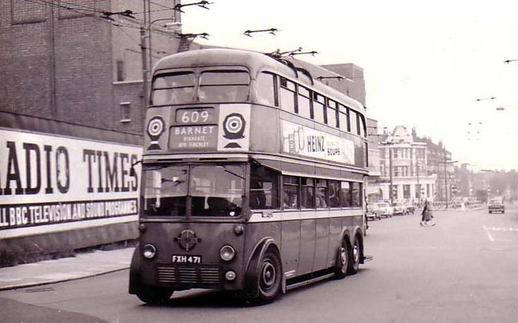 1950s London bus.