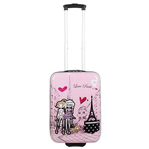 #Valise #enfant/#fille #ROSE LOVE #PARIS 2031 ABS 50CM