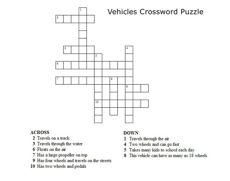 Pin by Sharon Wolf on Work | Kids crossword puzzles ...