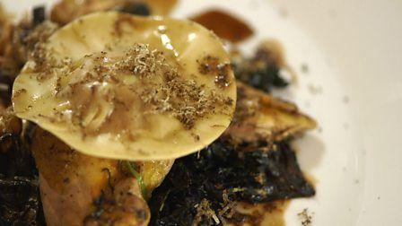 BBC - Food - Recipes : Roast pheasant with ravioli and wild mushrooms