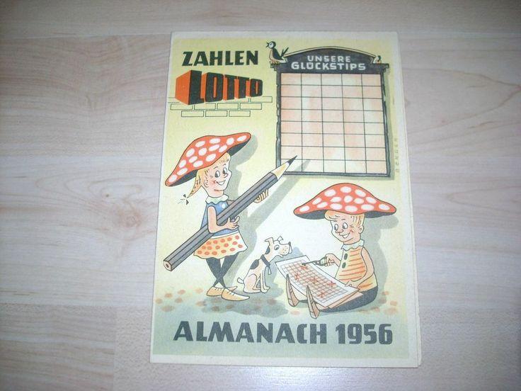 VEB Zahlenlotto Almanach von 1956 unbenutzt ab 1 Euro